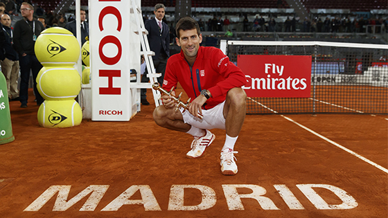 Novak Djokovic, campeón del Mutua Madrid Open