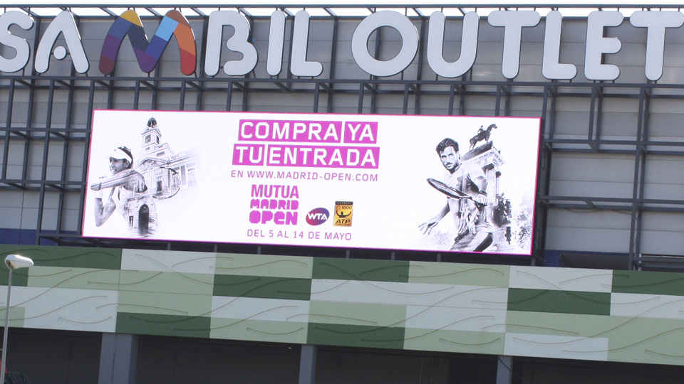 Pantalla gigante Mutua Madrid Open