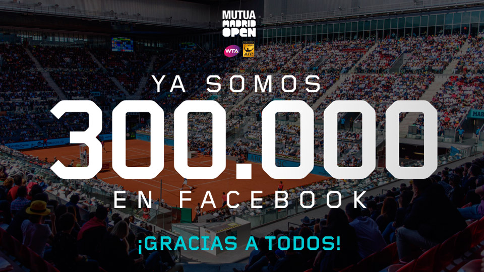 EL Mutua Madrid Open, líder en Facebook